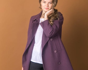 Blueberry color Trench coat