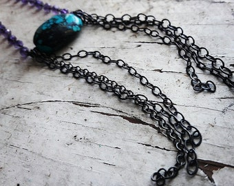 Long Necklace,statement necklace,Sterling silver Necklace
