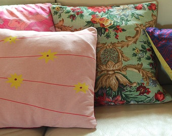 Flower printed yersey pillow cover 20x20
