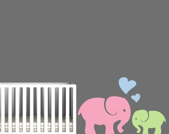 Elephant Decal for Nursery Cute Baby Elephant wall Art