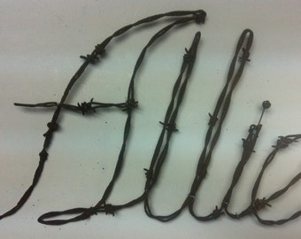 Wall Hanging, Wire Art, Barbed Barb wire Art, Sculpture,  Hand made,