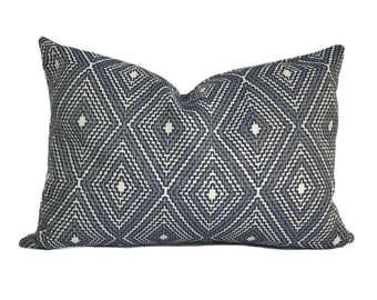 Indigo Pillow Cover, Indigo Throw Pillow, Blue Pillow, Accent Pillow, Sofa  Cushion