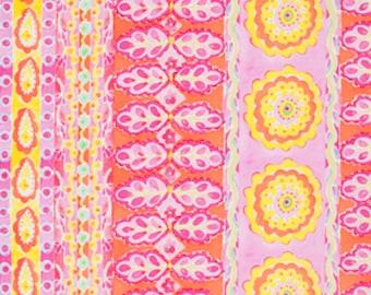SALE Free Spirit Dena Designs  PWDF138 The Painted Garden-Heather-Pink 1 YARD CUT
