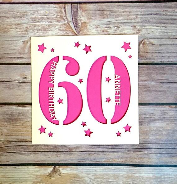 Personalised 60th birthday card dad 60th card mum 60th card like this item bookmarktalkfo Choice Image