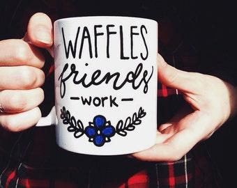 Parks and Recreation mug, waffles friends work, Leslie Knope, parks and rec, best friend gift