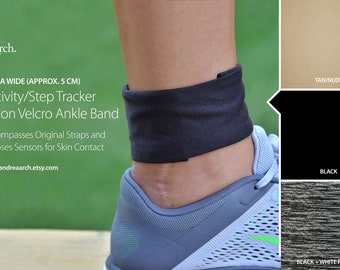 Activity/Step Tracker Nylon Ankle Band – Encompasses Original Straps and Exposes Sensors for Skin Contact (Extra Wide)
