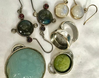 Grab bag of jewelry and components