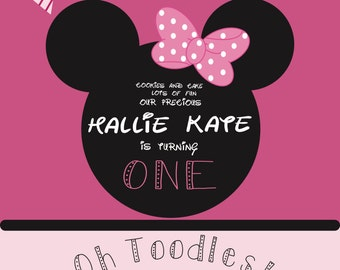 Minnie's Bowtique Birthday Invitation - Minnie Mouse