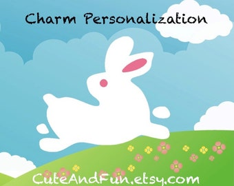 CuteAndFun handmade fine silver charm personalization upgrade - for CuteAndFun orders only
