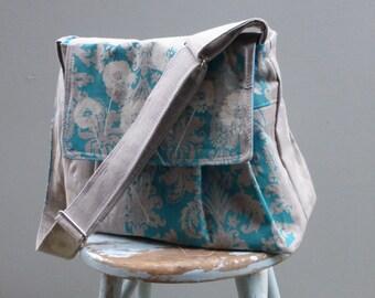 Reserved - Robins Egg Blue Dandelion Camera Bag LARGE Purse