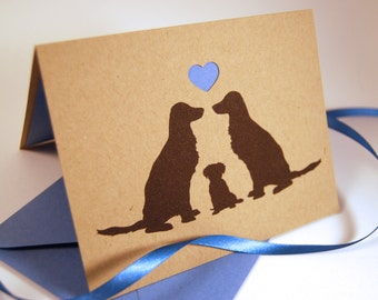 New Baby Boy Card, New Puppy Card, Congratulations Card, New Arrival Card