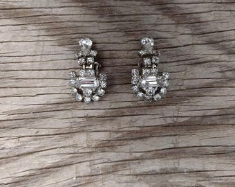Vintage Costume Jewelry Clip-on Earrings