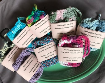 Hand crafted crochet soap cozy - 100% Cotton