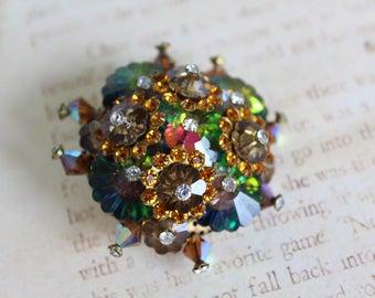 Vintage Vitrail Crystal Swarovski Brooch // Vintage Pin // Rainbow Crystal // Unique Brooch