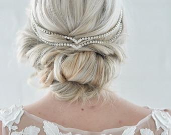Hair Jewelry Simple Wedding Head Chain Unique Bridal Headpiece Draped V Wedding Headband head chain pins bandeau boho bohemian forehead 225
