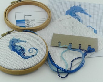 Seahorse Cross Stitch Kit