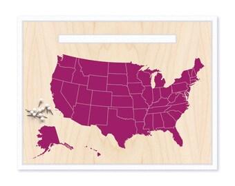 USA Map & Pin Set. Push Pin Travel Map. World Map. Personalized Map. Travel Map. Map Art. Custom Map. Inspirational Map. Mounted Map. US Map