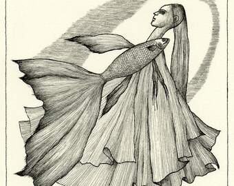 Original drawing - Pleats