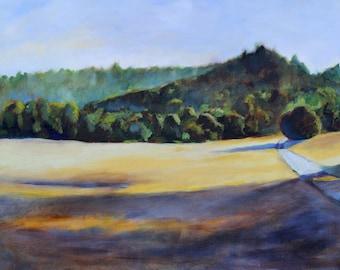 California Landscape Original Oil Painting print Bear Valley Trail Pt Reyes CA
