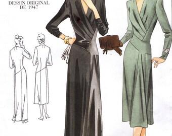 Vogue 2354 VOGUE VINTAGE MODEL 1947 Design Shaped Bodice Front Tucks & Inset Size 10 ©2001