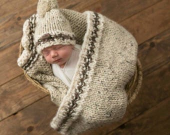 Chunky Knit Baby Blanket Car Seat Stroller