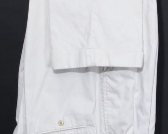 Size 34x30 - Brooks Brothers 1980's vintage khaki pleat-front pants (khakis)