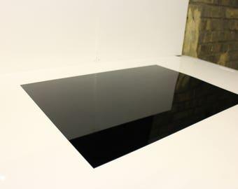 1.5mm Nitto Jushi CLAREX Acrylic Perspex Precision thin sheet Black N-885, size 400x550mm