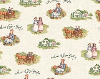 Penny Rose fabric Anne of green gables c5860  cream