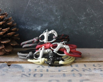 Design Your Own Paracord Bracelet - Adventure - Paracord Bracelet for Men - Men's Bracelet - Skydive Shackle - Gift Ideas for Him