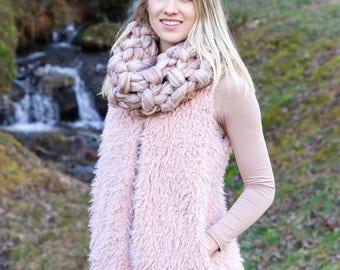 Merino wool cowl