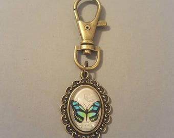 Butterfly Cabochon Keychain