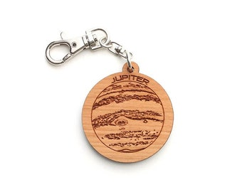 Jupiter Keychain - Detailed Jupiter Keychain Showing Its Great Red Spot