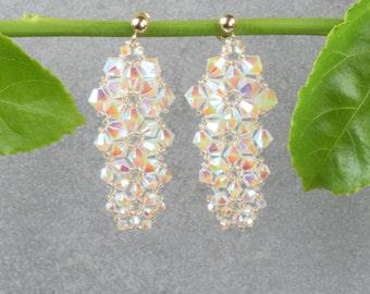 Crystal earrings Beaded earrings Long earrings Wedding earrings Wedding jewelryTop valentine gifts Special valentine gift Valentines jewelry