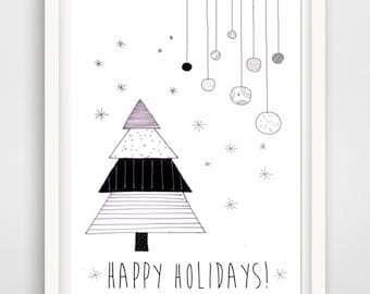 happy holidays merry christmas greeting card printable card christmas card christmas quote christmas printable