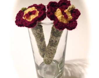 Crocheted Pen Covers With Pens-Pair