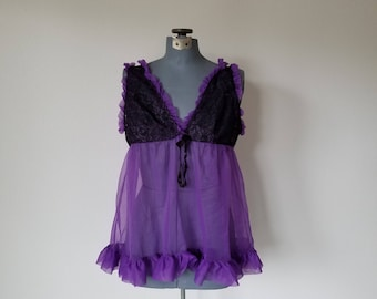 Purple and Black Sheer Nightie