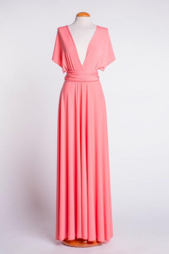 Vestido Damas de Honor Coral Boda coral Vestido dama de
