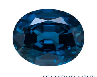 4.36 Carat Blue Sapphire, Oval cut Sapphire, Loose Sapphire Gemstone, Blue Gemstone, Non Heated Real Sapphire