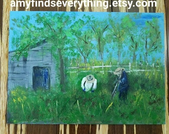 Berry Picking Painting