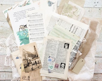 35-Piece Vintage Junk Journal Kit #2