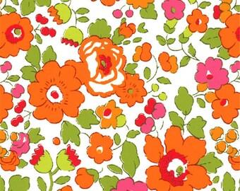 Liberty pattern Liberty Betsy Orange green print fabric