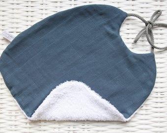 Large bib in organic cotton mix
