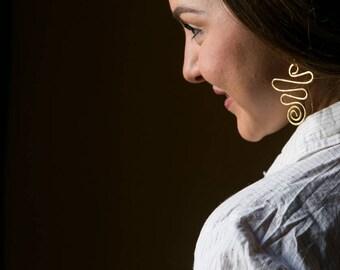 Anita Hammered Metal Earrings