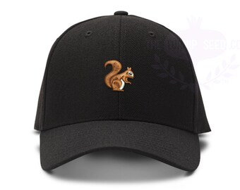 Small Squirrel Baseball Cap - Custom Color Hat and Embroidery
