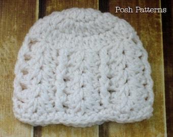 Crochet Pattern - Crochet Patterns for Kids - Crochet Hat Pattern - Crochet Patterns for Women - Includes 5 Sizes Baby to Adult - PDF 218