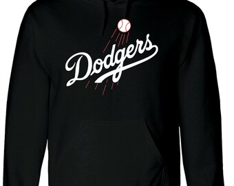 Los Angelles Dodgers Hooded Sweatshirt Hoodie Basketball Sizes S-2XL 113