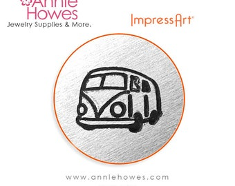 Impressart Metal Stamp  - Hippie Bus Design