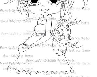 INSTANT DOWMLOAD Digital Digi Stamps Big Eye Big Head Dolls Digi Expecting Img898 By Sherri Baldy