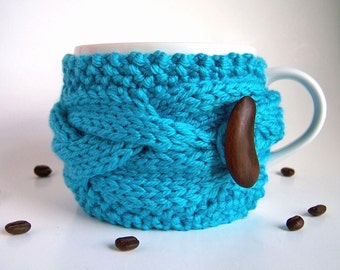 Coffee Sleeve, Coffee Mug Cozy, Coffee Cup Sleeve, Coffee Cup Cozy, Knit Coffee Cozy, Chunky Knit Mug Sweater, Coffee Mug Sleeve, Tea Cozy