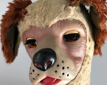 Vintage 50s Regal Beagle Gund Rubber Face Open Shut Eyes Sleepy Dog